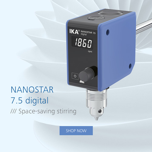 New overhead stirrer IKA NANOSTAR 7.5 digital