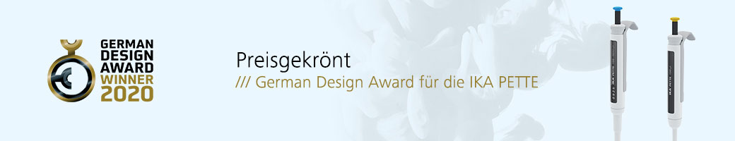 German Design Award 2020 für IKA Pipetten
